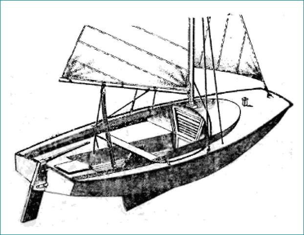 лодка парусная план на самостоятельной постройки