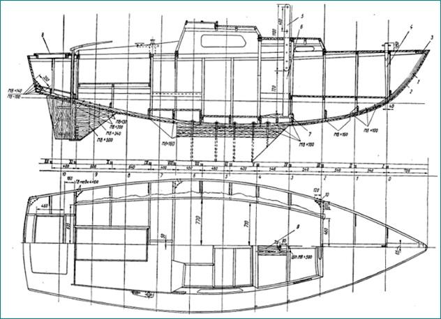 Яхта проекты чертежи